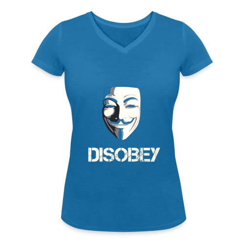 Anonymous Disobey gif - Stanley & Stellan naisten v-aukkoinen luomu-T-paita