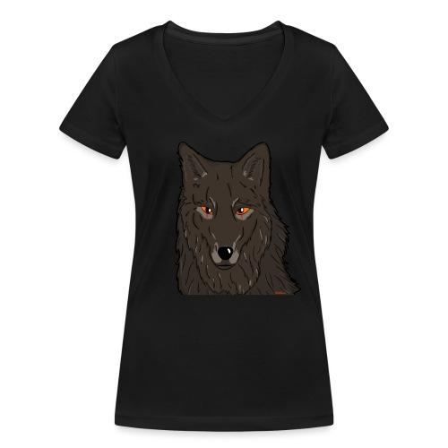 HikingMantis Wolf png - Økologisk Stanley & Stella T-shirt med V-udskæring til damer
