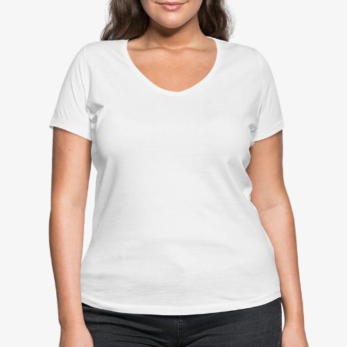 Philippians 4:13 white lettered - Vrouwen bio T-shirt met V-hals van Stanley & Stella
