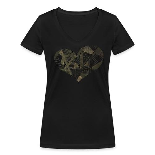 herz - Frauen Bio-T-Shirt mit V-Ausschnitt von Stanley & Stella