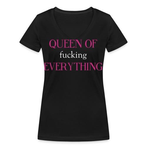 queen of fckng everything - Frauen Bio-T-Shirt mit V-Ausschnitt von Stanley & Stella