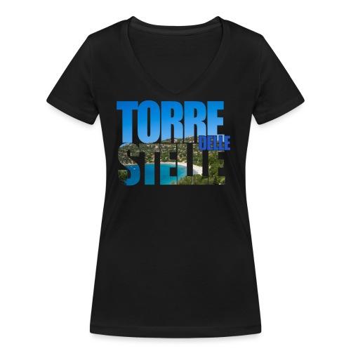 TorreTshirt - T-shirt ecologica da donna con scollo a V di Stanley & Stella