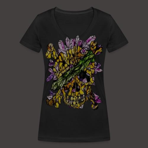 Crane de Pirate de Cristal Creepy - T-shirt bio col V Stanley & Stella Femme