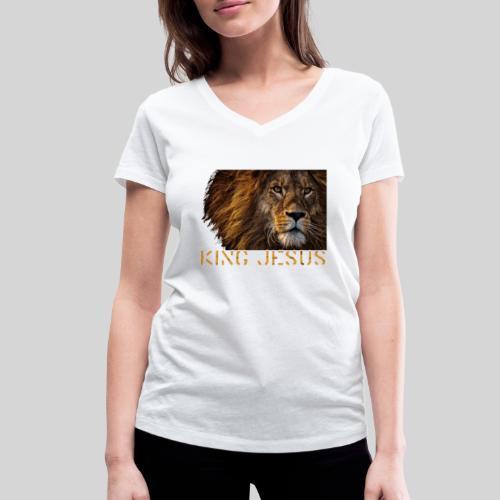 König Jesus der Löwe von Juda - Frauen Bio-T-Shirt mit V-Ausschnitt von Stanley & Stella