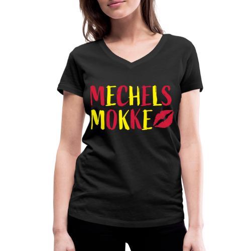 Mechels Mokke Malinwa - Vrouwen bio T-shirt met V-hals van Stanley & Stella