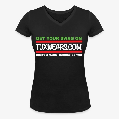 TUXWEARS.COM - Women's Organic V-Neck T-Shirt by Stanley & Stella