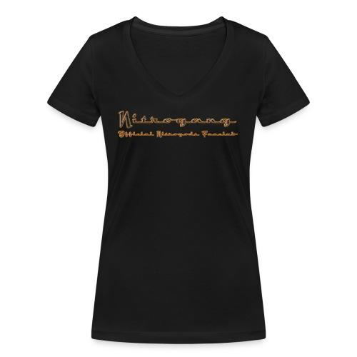 Banner 2 feuer png - Frauen Bio-T-Shirt mit V-Ausschnitt von Stanley & Stella