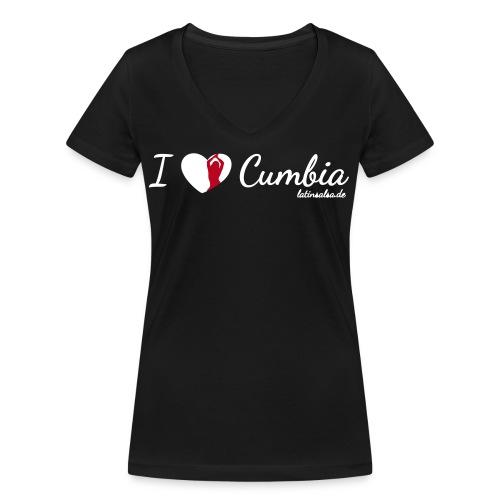 i love cumbia black - Frauen Bio-T-Shirt mit V-Ausschnitt von Stanley & Stella