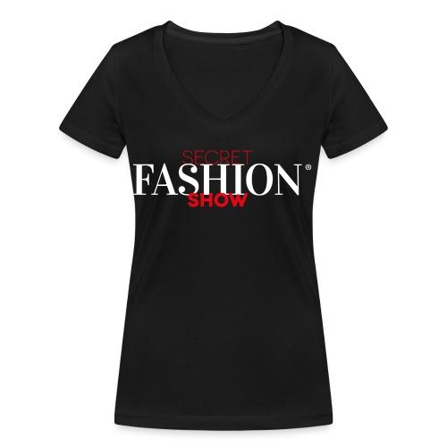 Logo schwarz 300dpi png - Frauen Bio-T-Shirt mit V-Ausschnitt von Stanley & Stella