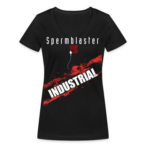 spermblaster industrial 2 png - Women's Organic V-Neck T-Shirt by Stanley & Stella