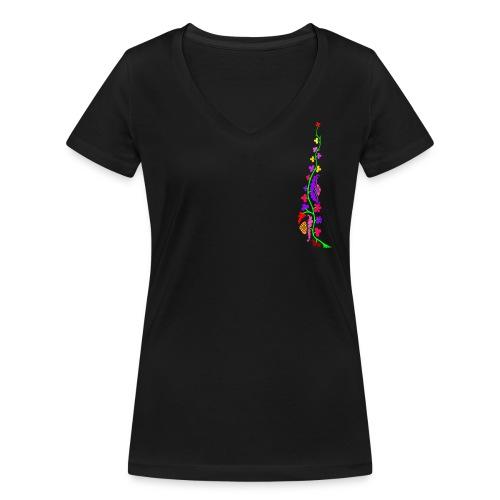 fiorone - T-shirt ecologica da donna con scollo a V di Stanley & Stella
