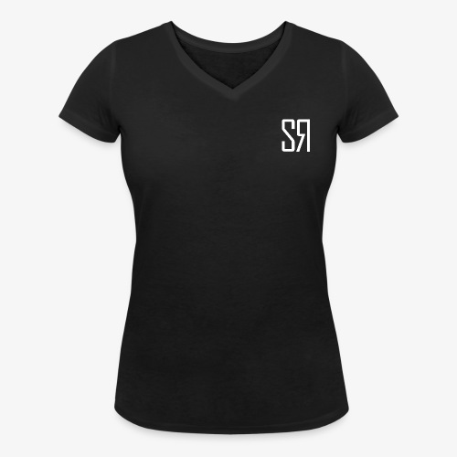 White badge (No Background) - Women's Organic V-Neck T-Shirt by Stanley & Stella