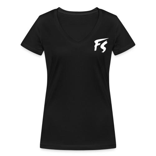 FS Logo wit - Vrouwen bio T-shirt met V-hals van Stanley & Stella