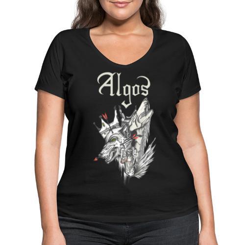 Algos - Amongst Monoliths - Women's Organic V-Neck T-Shirt by Stanley & Stella