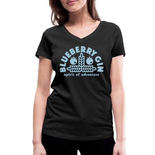 Blueberry Gin - Women's Organic V-Neck T-Shirt by Stanley & Stella