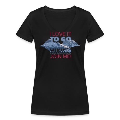 I LOVE NATURE - Frauen Bio-T-Shirt mit V-Ausschnitt von Stanley & Stella