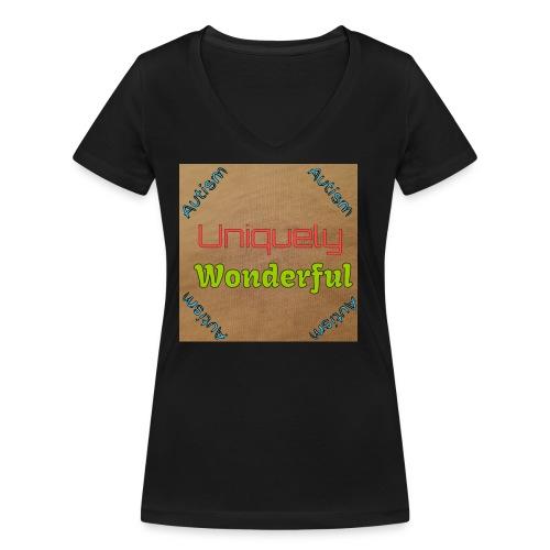 Autism statement - Women's Organic V-Neck T-Shirt by Stanley & Stella