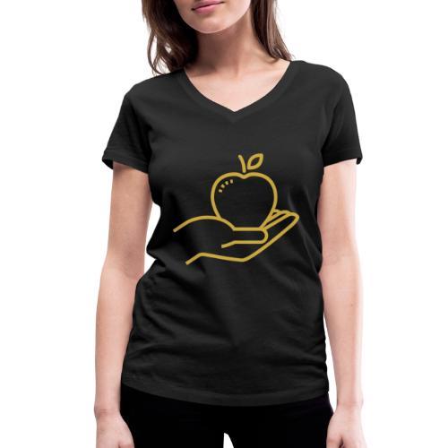 Äpplet - Ekologisk T-shirt med V-ringning dam från Stanley & Stella