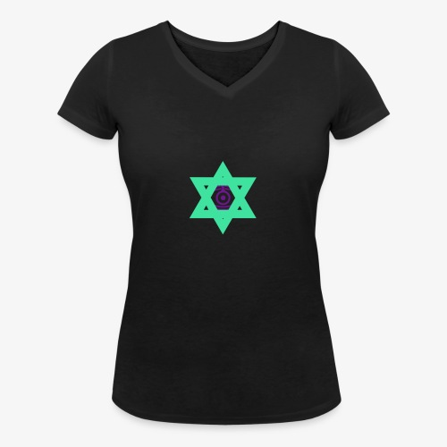 Star eye - Women's Organic V-Neck T-Shirt by Stanley & Stella