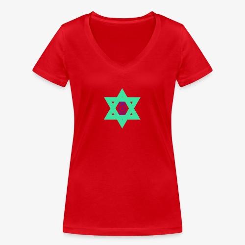 Star eye - Women's Organic V-Neck T-Shirt by Stanley & Stella