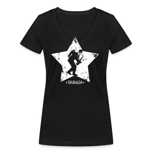 shirt3 2 png - Frauen Bio-T-Shirt mit V-Ausschnitt von Stanley & Stella