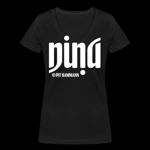 Ambigramm Nina 01 Pit Hammann - Frauen Bio-T-Shirt mit V-Ausschnitt von Stanley & Stella