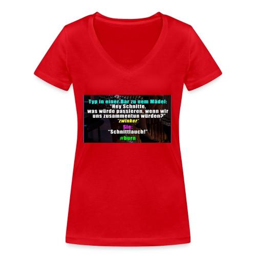 SchnitLauch - Frauen Bio-T-Shirt mit V-Ausschnitt von Stanley & Stella