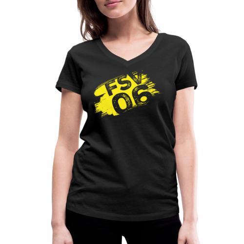 Hildburghausen FSV 06 Graffiti gelb - Frauen Bio-T-Shirt mit V-Ausschnitt von Stanley & Stella
