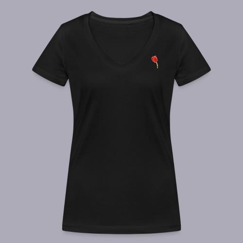 Tulip Logo Design - Women's Organic V-Neck T-Shirt by Stanley & Stella