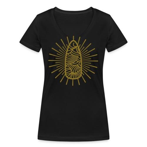 Nail Design Art - Vrouwen bio T-shirt met V-hals van Stanley & Stella