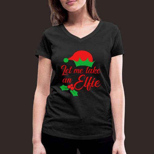 Weihnachten   Elf Mütze Weihnachtself Wortspiel - Frauen Bio-T-Shirt mit V-Ausschnitt von Stanley & Stella
