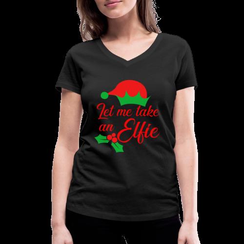 Weihnachten | Elf Mütze Weihnachtself Wortspiel - Frauen Bio-T-Shirt mit V-Ausschnitt von Stanley & Stella