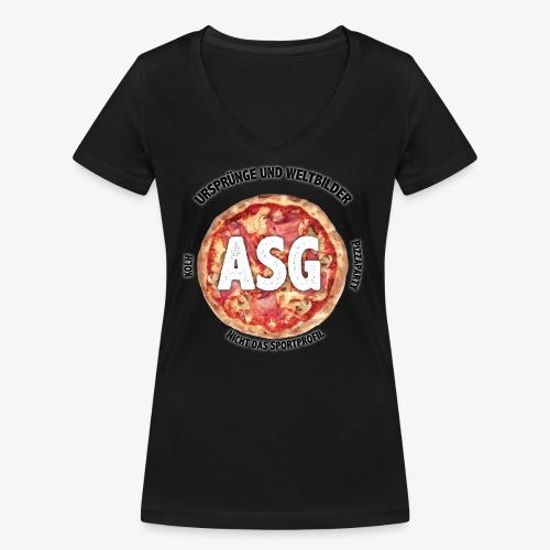 UuW - Pizza - Frauen Bio-T-Shirt mit V-Ausschnitt von Stanley & Stella