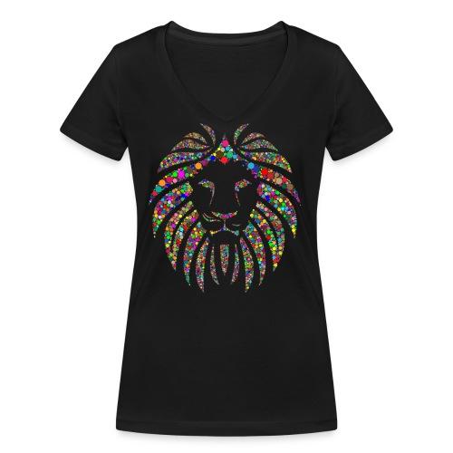 Ausdruck des Löwen - Frauen Bio-T-Shirt mit V-Ausschnitt von Stanley & Stella