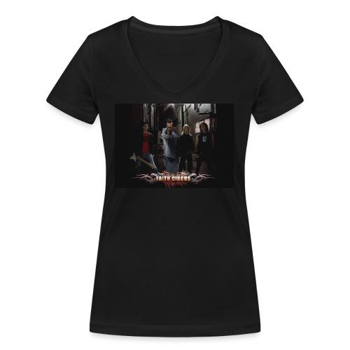 FAITH CIRCUS - Women's Organic V-Neck T-Shirt by Stanley & Stella