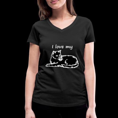 katzelove png - Frauen Bio-T-Shirt mit V-Ausschnitt von Stanley & Stella