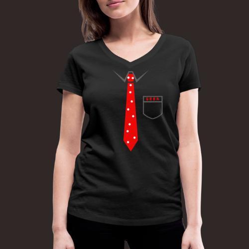 Geek | Schlips Krawatte Wissenschaft Streber - Frauen Bio-T-Shirt mit V-Ausschnitt von Stanley & Stella