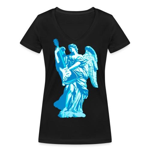 Engel 2018 blauw - Vrouwen bio T-shirt met V-hals van Stanley & Stella
