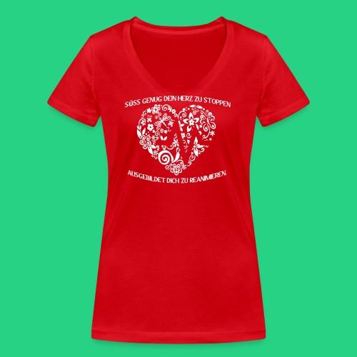 Süß genug dein Herz zu - Frauen Bio-T-Shirt mit V-Ausschnitt von Stanley & Stella