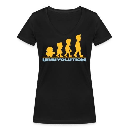 Urbivolution - Frauen Bio-T-Shirt mit V-Ausschnitt von Stanley & Stella