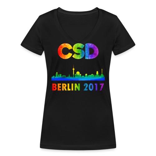 CSD 2017 Berlin - Frauen Bio-T-Shirt mit V-Ausschnitt von Stanley & Stella