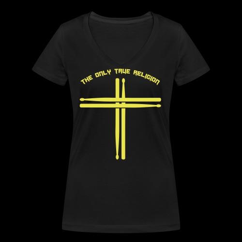True Religion - Frauen Bio-T-Shirt mit V-Ausschnitt von Stanley & Stella