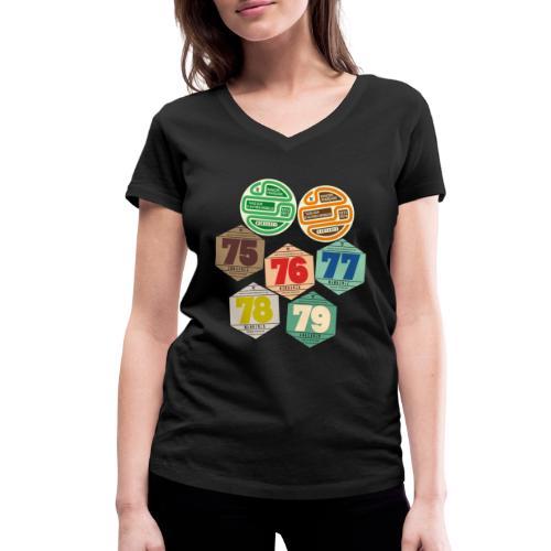 Vignettes automobiles années 70 - T-shirt bio col V Stanley & Stella Femme