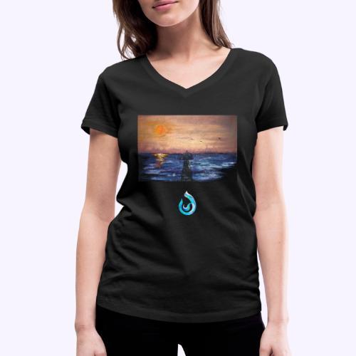 Sunrise - T-shirt ecologica da donna con scollo a V di Stanley & Stella