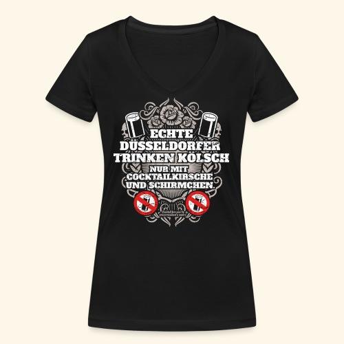 Düsseldorf T Shirt Spruch Echte Düsseldorfer - Frauen Bio-T-Shirt mit V-Ausschnitt von Stanley & Stella