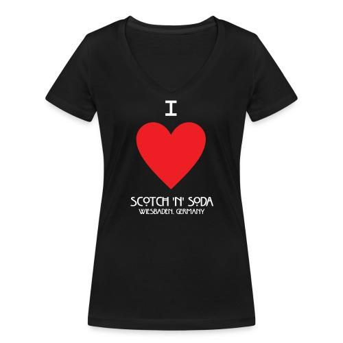 I Love SNS - Women's Organic V-Neck T-Shirt by Stanley & Stella