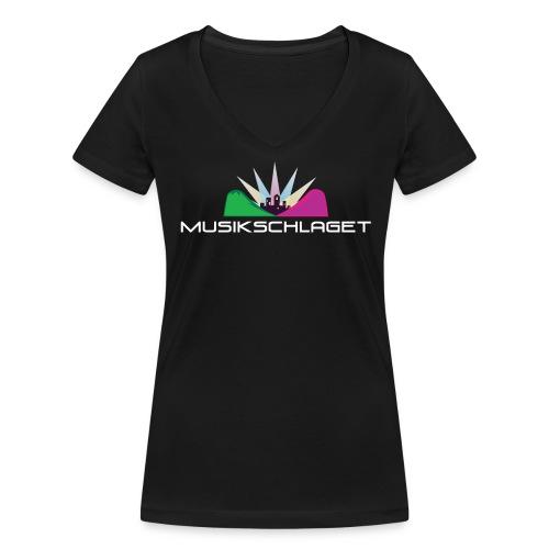 Musikschlagetlogga_vitsv_ - Ekologisk T-shirt med V-ringning dam från Stanley & Stella