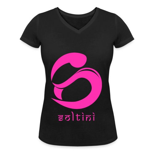 SoltiSquad Pink Logo For Soltini (Female) - Women's Organic V-Neck T-Shirt by Stanley & Stella