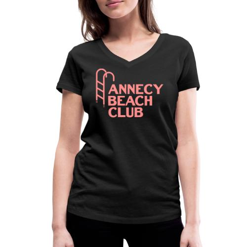 Annecy beach club - natation - T-shirt bio col V Stanley & Stella Femme