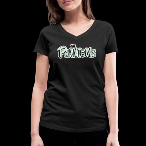 Phantoms Comic Logo - Women's Organic V-Neck T-Shirt by Stanley & Stella